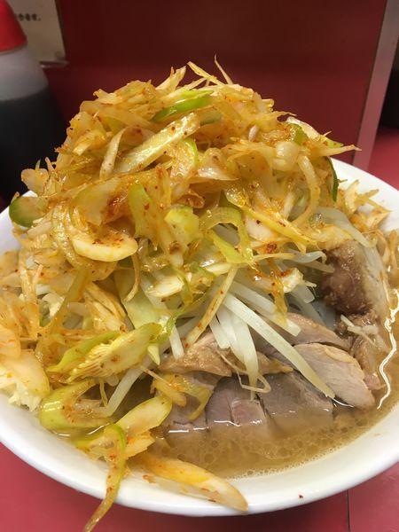 「小ラーメン+辛いねぎトッピング」@ラーメン二郎 桜台駅前店の写真