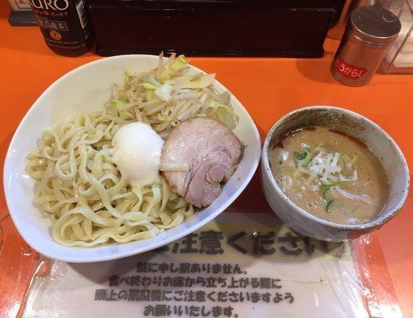 「つけ麺 醤油豚一切れ温玉付き(ニンニク少しネギラー油)」@ちばからの写真