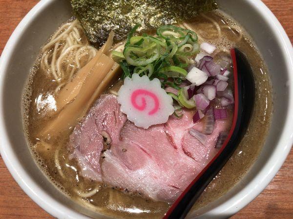 「煮干中華そば(細麺/大盛)」@煮干中華そば 鈴蘭 新宿店の写真