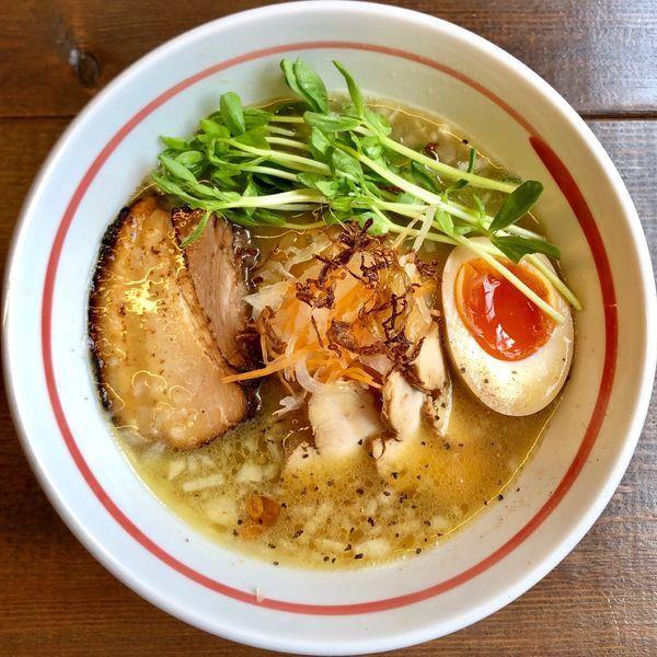「鶏白湯と煮干しのWスープ (870円)」@麺屋 秀ちゃんの写真
