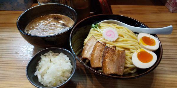 「特製つけ麺 中」@銀座 朧月の写真