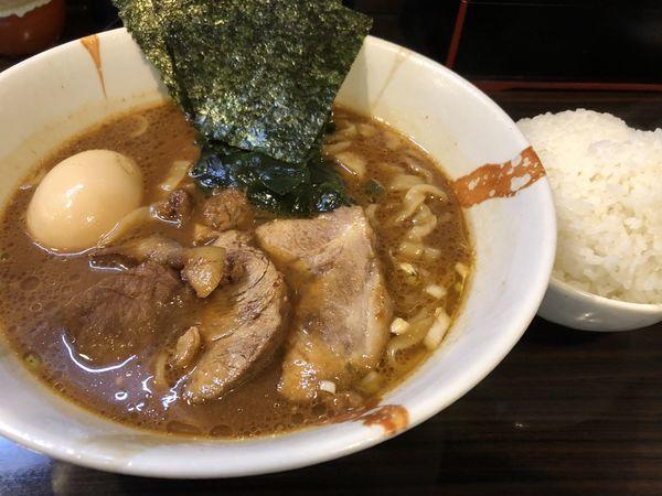 「魚介味噌らーめん味玉ライス」@麺屋 優創の写真