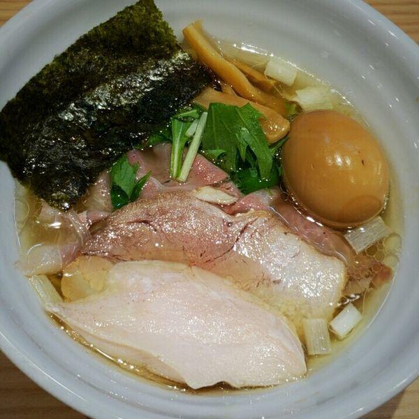 「特製 鶏だし塩らぁ麺 1050円」@常陸 景虎の写真