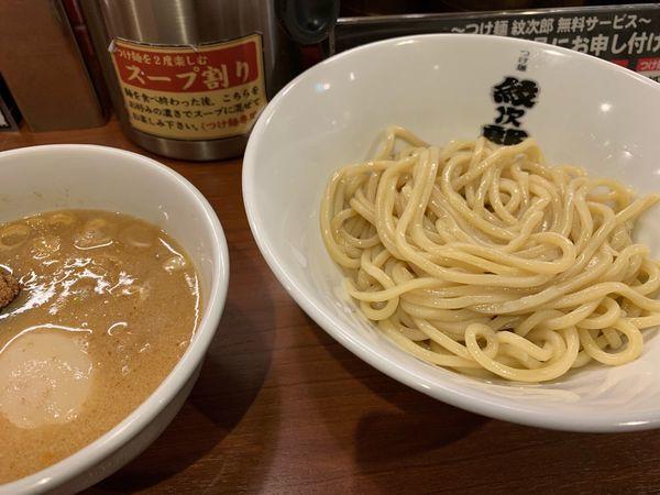 「味玉つけ麺」@つけ麺 紋次郎 大阪駅前第二ビル店の写真