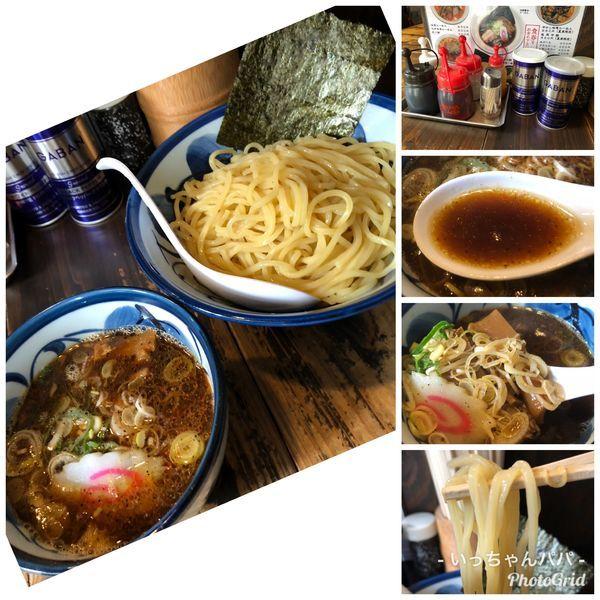 「つけそば 醤油 デフォ300g 850円」@麺蔵 もみじの写真