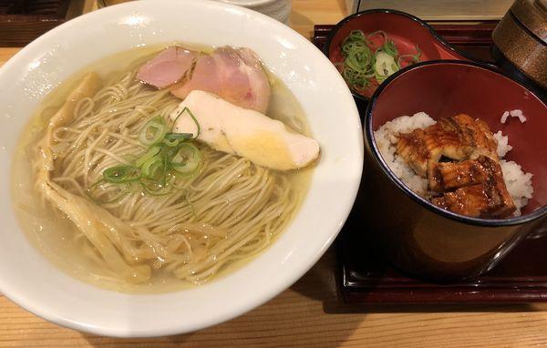 「塩そば +ひつまぶしセット」@自家製麺 竜葵の写真