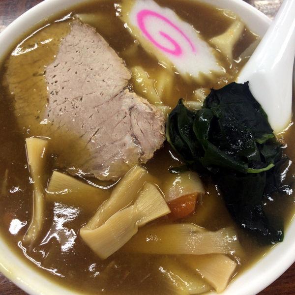 「カレーラーメン(ひもかわ) 650円」@手打ちラーメン 足利麺の写真