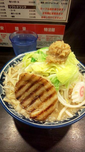 「ドカ盛野菜ラーメン」@麺屋 武士道 本店の写真