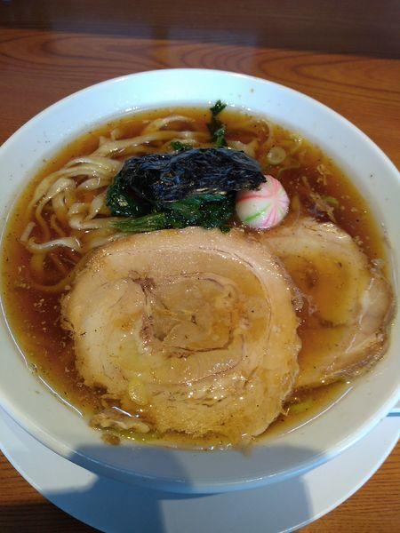 「らぁめん (醤油) 750円」@らぁめん 生姜は文化。の写真