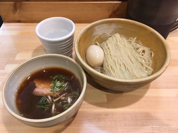 「鰹昆布出汁 味玉・醤油つけ麺」@迂直の写真