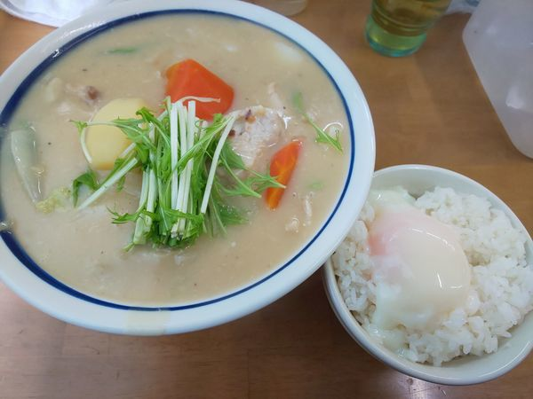 「追い炊き 南部赤鶏 クリーム煮掛け B」@MENYA 食い味の道有楽の写真