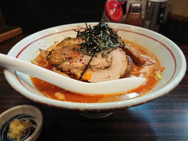 「辛ねぎ味噌らー麺」@らー麺 あけどやの写真