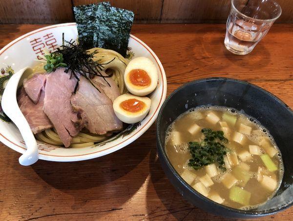 「特製濃厚豚骨魚介つけ麺 柚子風味 中盛」@麺処 ほん田の写真