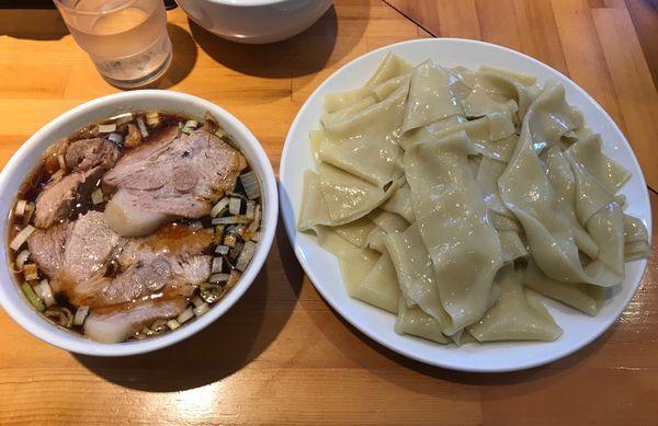 「つけ麺(凄平麺)チャーシュー 大盛り」@らぁめん りきどうの写真