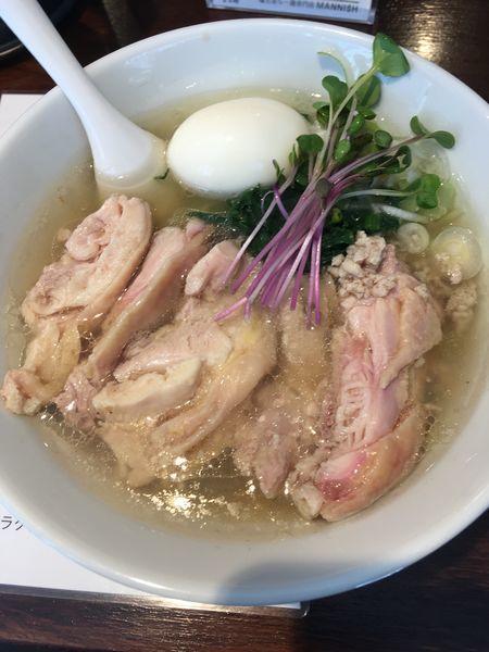 「塩生姜らー麺肉玉入り」@塩生姜らー麺専門店MANNISHの写真