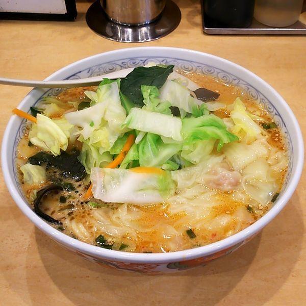 「ハイブレンドみそ野菜ラーメン+わんたん」@麺工房 男爵 市川本店の写真