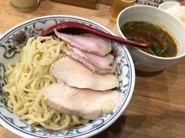 「限定 海老塩つけ麺 肉増し 1000円」@くじら食堂 nonowa東小金井店の写真