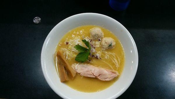 「川名卒業限定「鶏とチェリー」 1000円+和え玉(鶏油)」@麺処 晴の写真