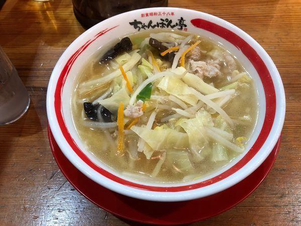 「近江ちゃんぽん750円」@ちゃんぽん亭総本家 彦根駅前本店の写真