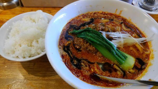 「汁あり担々麺、ライス」@Dandan spicy noodlesの写真