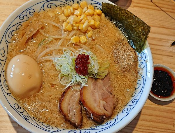 「白味噌ラーメン(180g)890 味玉100 香味辛50」@麺屋 必道の写真
