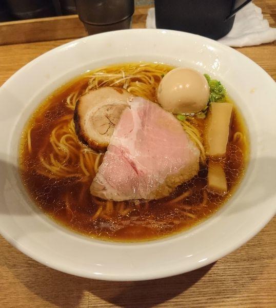 「味玉醤油らぁめん大盛り」@麺処 青野の写真