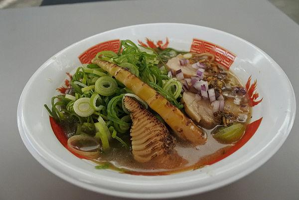 「ぎをん鶏白湯 鶏そば+九条ネギ¥100」@ふくしまラーメンショー2019の写真