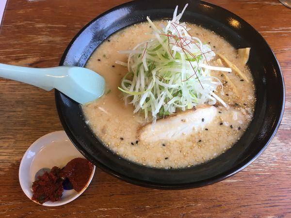 「白神ねぎ味噌ラーメン(780¥税込)」@麺家 麺四郎の写真