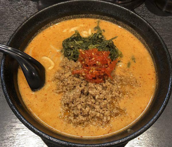 「地獄の担担麺・中級編(¥900)」@地獄の担担麺 天竜 トツカーナモール店の写真