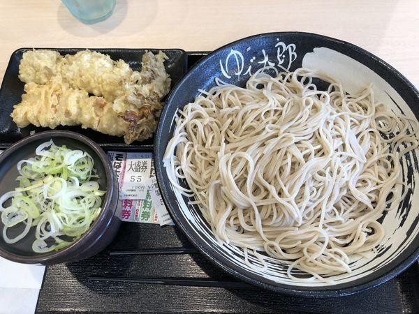 「とり舞茸天そば+大盛(¥550+¥100)」@ゆで太郎 大和深見東店の写真