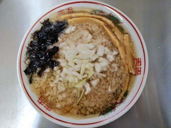 「期間限定 背脂肉煮干そば」@ラブメン 読谷 POPUP STOREの写真