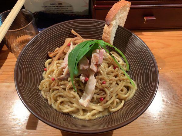 「牡蠣混ぜそば」@麺や渦雷UZURAIの写真