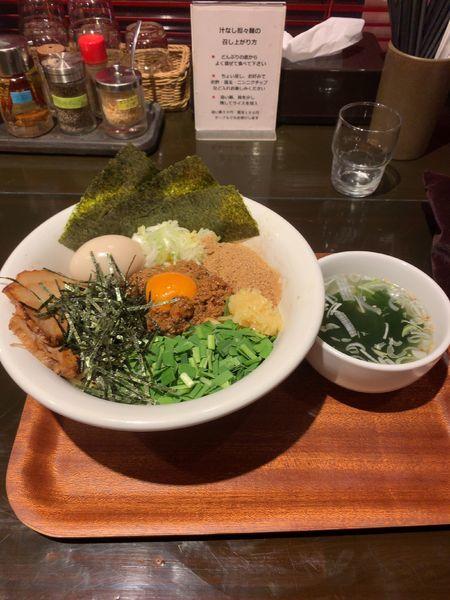 「特性台湾混ぜそば」@自家製麺 ほうきぼし 茅ケ崎店の写真