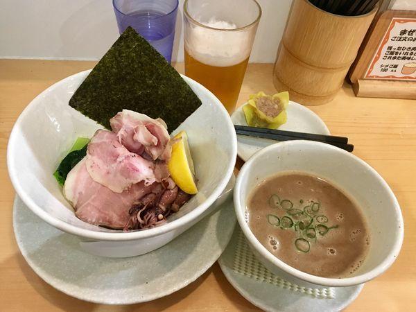 「濃厚ホタルイカのつけ麺【限定】 1000円」@麺屋BISQの写真
