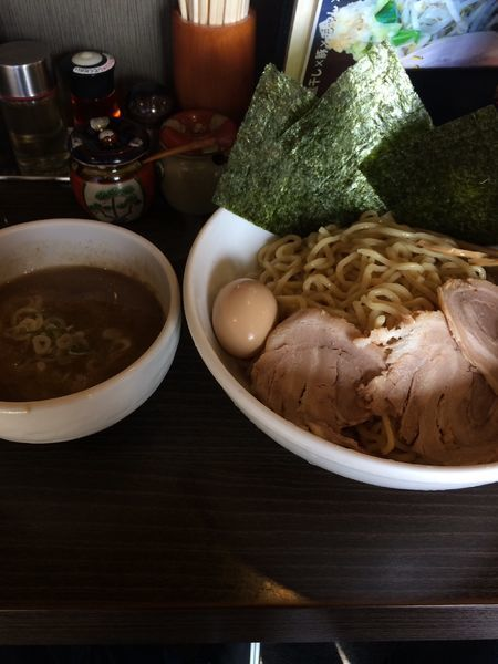 「特製メガ豚煮干しつけ麺1100円 特盛+100円」@らーめん 福たけの写真