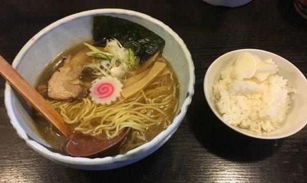 「中華そば醤油・竹セット(700¥+260¥)」@中華そば 花菱の写真