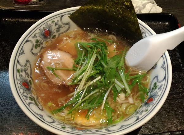 「煮干しラーメン小ぶり」@にぼらや 酒場通り店の写真