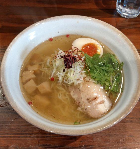 「魚介のジュ あっさり塩そば」@麺屋 さんじの写真