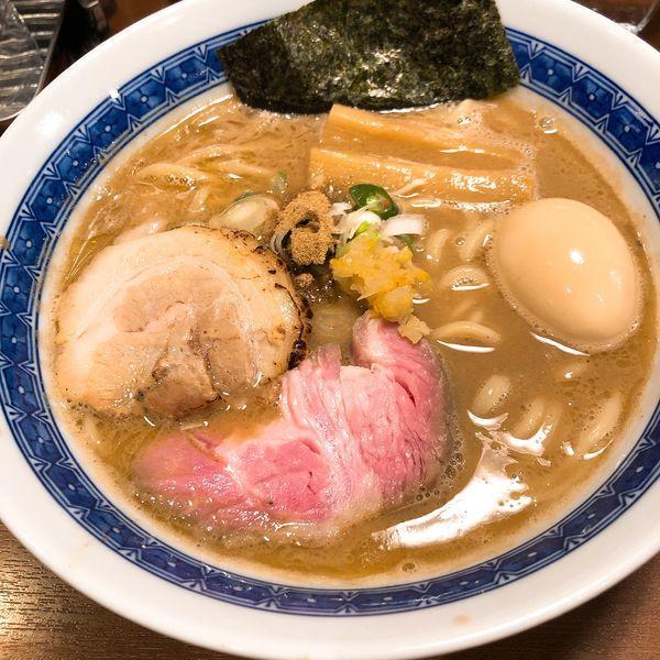 「味玉濃厚豚骨魚介らーめん ¥950」@麺処 はら田の写真