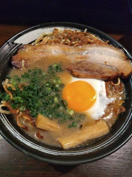 「目玉焼麺 840円 大盛無料」@焼麺 劔の写真