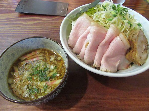 「つけ麺大(850円)+肉増し+辛ネギ」@良温(Ra-on)の写真