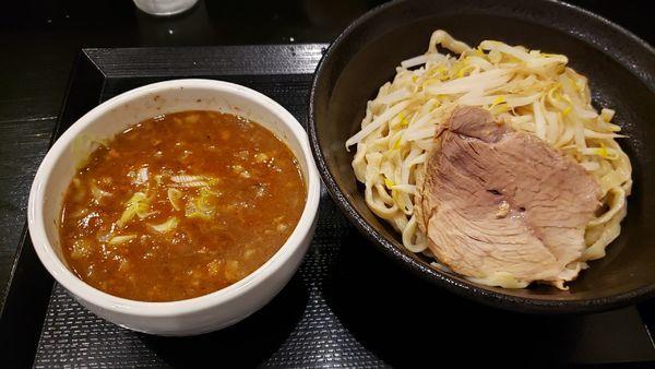 「辛つけめん800円」@つけ麺 どでんの写真