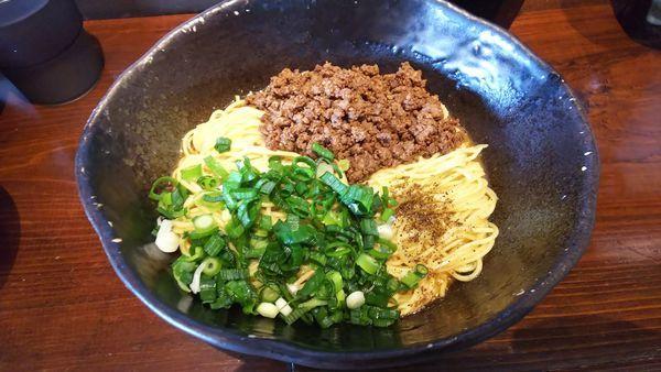 「汁なし担担麺 2玉 800円」@汁なし担担麺 階杉 周南店の写真