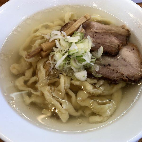 「会津山塩ラーメン(手打麺)」@うえんで食堂の写真