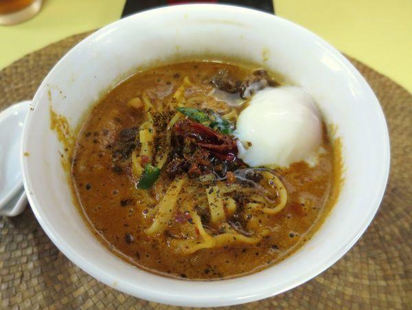 「黒カラシビ麺 750円」@龍門瀑の写真