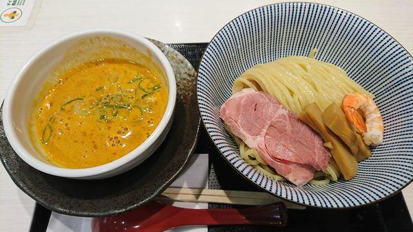 「伊勢海老つけ麺(1180円)」@鯛塩そば 灯花 ラゾーナ川崎プラザ店の写真