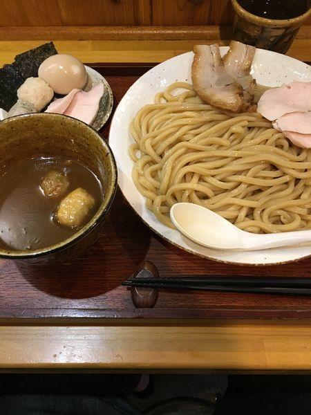 「特製つけ麺+麺【大盛り・豚肉×2増加】」@麺屋桜木の写真