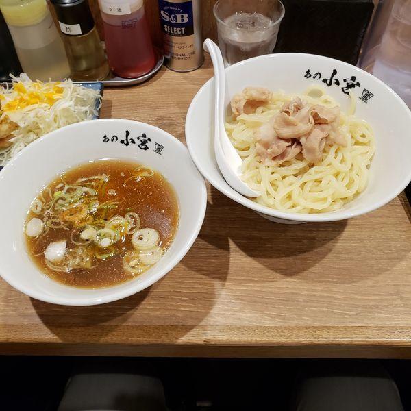 「肉つけ麺」@らーめんとカラアゲ あの小宮の写真