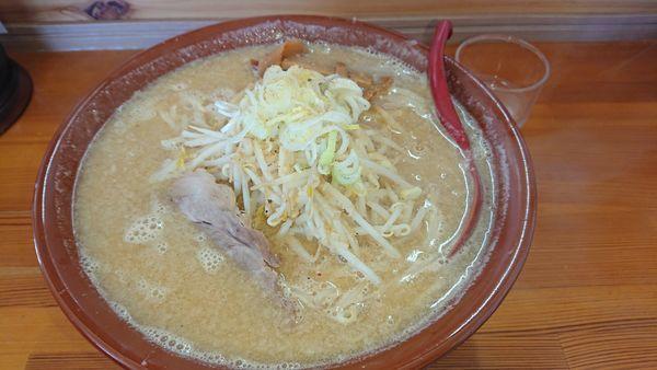 「こってりラーメン・味噌(750円)大盛(200円)」@麺屋 中邑の写真