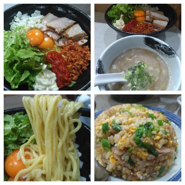 「【限定D】辛玉つけ麺大盛り+チャーハン」@麺屋 扇 SENの写真